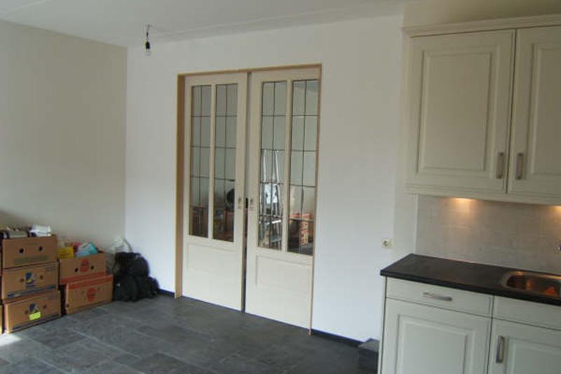 Keuken Met Schuifdeuren.Kin Boer Multimontage Nieuwe Keuken Vloer En Schuifdeuren